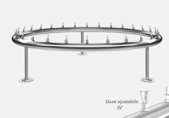 distribuitor inox circular cu diametru de 5800 mm