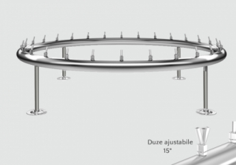 distribuitor inox circular cu diametru de 3800mm