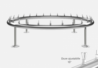 distribuitor inox circular cu diametru de 4800 mm