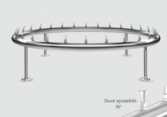 distribuitor inox circular cu diametru de 1500 mm