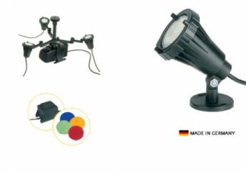 lumini submersibile pentru fantani arteziene  - set  3 x 50 w